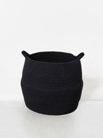 Black Port Cotton Rope Basket Large