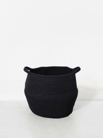 Black Port Cotton Rope Basket Medium
