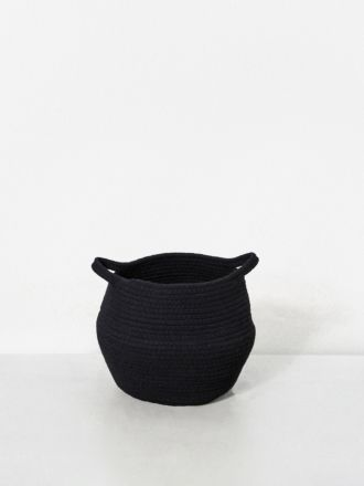 Black Port Cotton Rope Basket Small