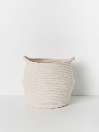 White Port Cotton Rope Basket Medium