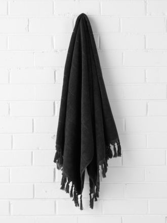 Paros Bath Towel - Black