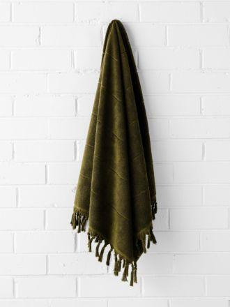 Paros Bath Towel - Khaki
