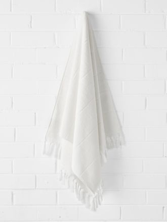 Paros Bath Sheet - White Wash