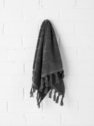 Paros Hand Towel - Charcoal