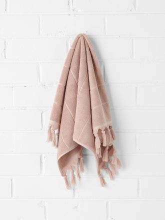 Paros Hand Towel - Pink Clay