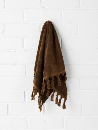 Paros Hand Towel - Tobacco