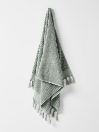 Paros Rib Bath Towel - Sage