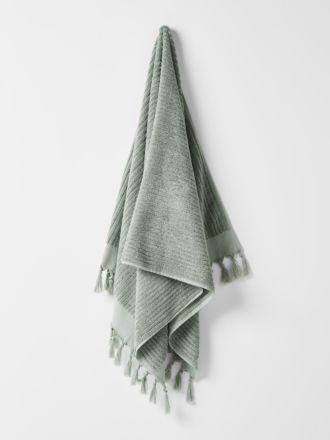 Paros Rib Bath Sheet - Sage