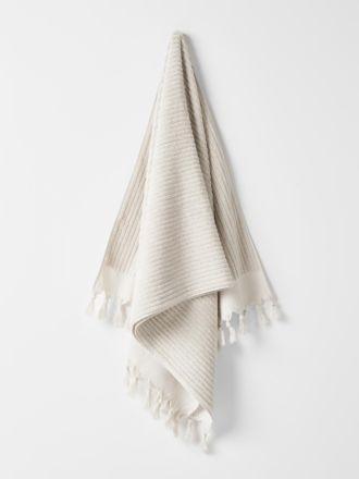 Paros Rib Bath Towel - Sand
