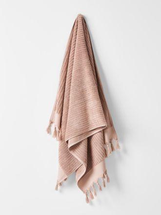 Paros Rib Bath Towel - Shell
