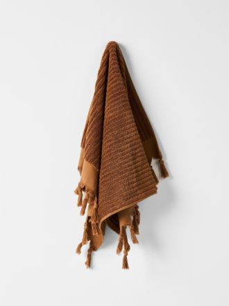 Paros Rib Hand Towel - Bronze