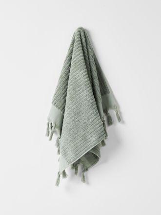 Paros Rib Hand Towel - Sage