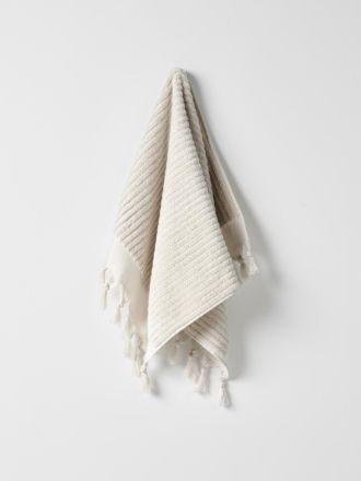 Paros Rib Hand Towel - Sand