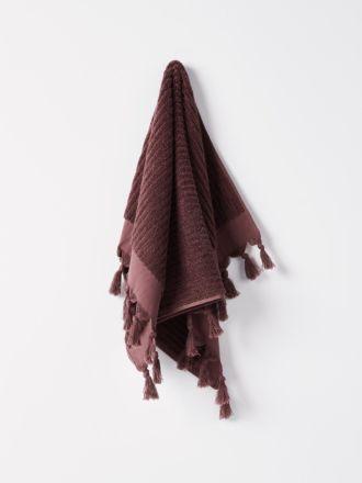 Paros Rib Hand Towel - Syrah