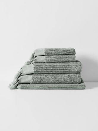 Paros Rib Bath Towel Set - Sage