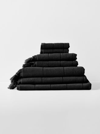 Paros Bath Towel Set - Black