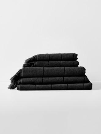 Paros Bath Towel Set - Black