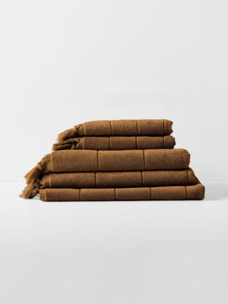 Paros Bath Towel Set - Caramel