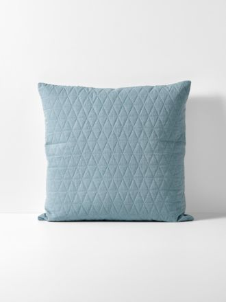 Chambray Quilted European Pillowcase - Eucalypt