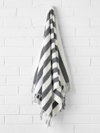 Stripe Bath Towel - Smoke