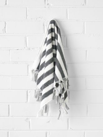 Stripe Hand Towel - Smoke