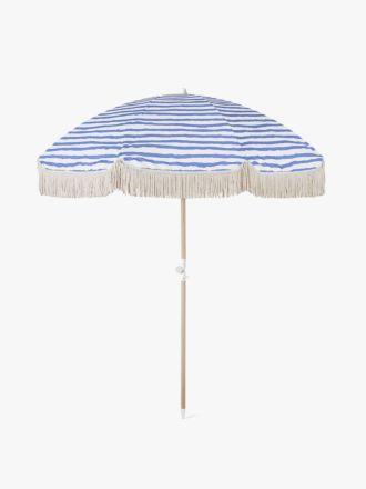 Pacific Stripe Beach Umbrella by Sunday Supply Co