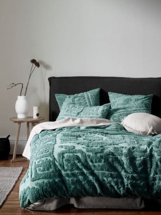 Suzani Quilt Cover - Jade