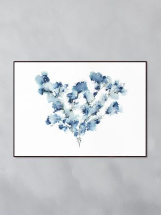 Field Flower Blue Art Print by Trine Holbaek