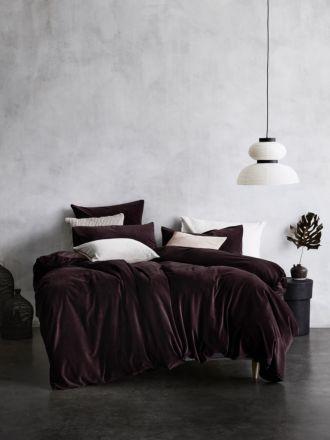 Luxury Velvet Quilt Cover - Fig