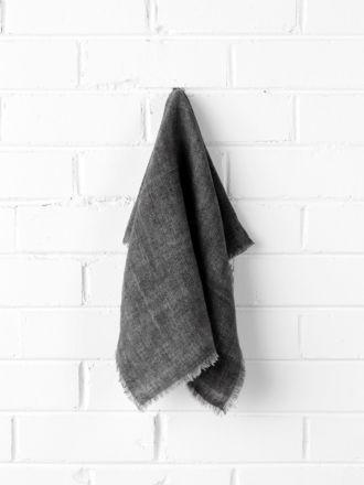 Vintage Linen Napkins set of 4 - Charcoal