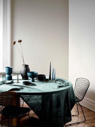 Vintage Linen Tablecloth - Jade