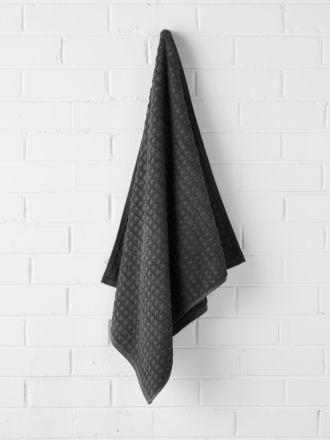 Waffle Bath Towel - Charcoal