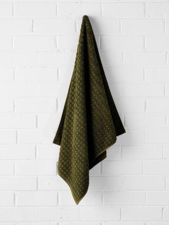 Waffle Bath Towel - Khaki