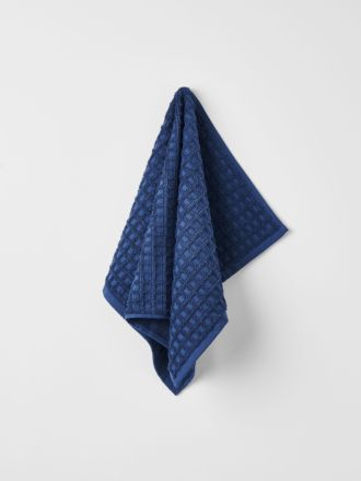 Waffle Hand Towel - Bijou Blue