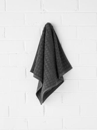 Waffle Hand Towel - Charcoal