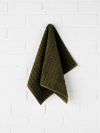 Waffle Hand Towel - Khaki