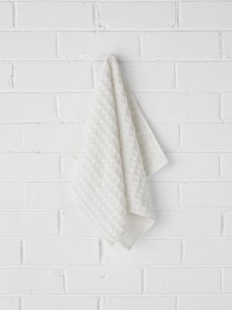 Waffle Hand Towel - White