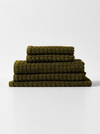 Waffle Towel Set - Khaki