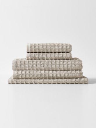 Waffle Towel Set - Natural
