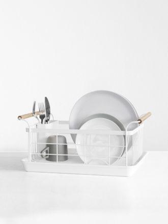 Tosca Dish Drainer White by Yamazaki