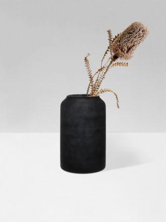 Black Deco Tall Vase by Zakkia
