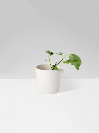 White Handle Planter Small by Zakkia