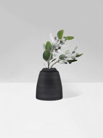 Black Tapered Vase Frost by Zakkia