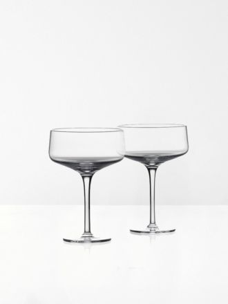 Rocks Cocktail Crystal Glasses Low Set of 2 by Zone Denmark