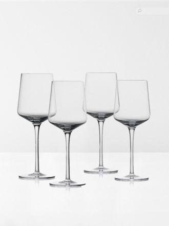 Rocks White Wine Crystal Glasses Set of 4 by Zone Denmark