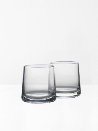 Rocks Wideball Crystal Glasses Set of 2 by Zone Denmark