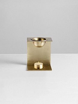 Brass Oil Burner by Addition Studio