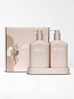 Applewood & Goji Berry Wash & Lotion DUO + Tray by Al.ive