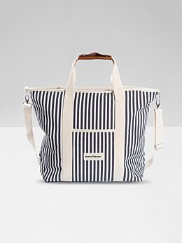 The Cooler Tote - Navy Stripe