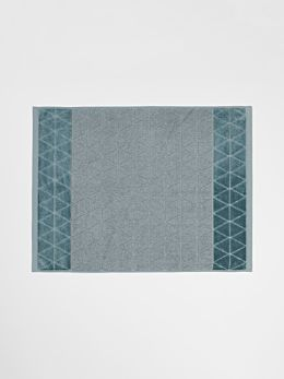 Chambray Border Bath Mat - Eucalypt